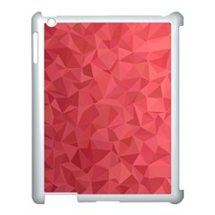 Triangle Background Abstract Apple iPad 3/4 Case (White)