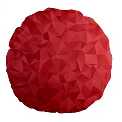 Triangle Background Abstract Large 18  Premium Round Cushions