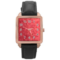 Triangle Background Abstract Rose Gold Leather Watch