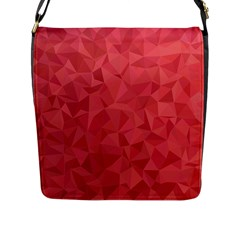Triangle Background Abstract Flap Closure Messenger Bag (L)
