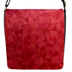 Triangle Background Abstract Flap Closure Messenger Bag (S)