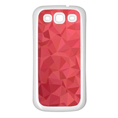 Triangle Background Abstract Samsung Galaxy S3 Back Case (White)