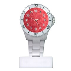 Triangle Background Abstract Plastic Nurses Watch