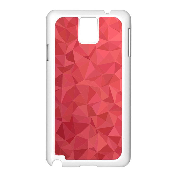 Triangle Background Abstract Samsung Galaxy Note 3 N9005 Case (White)