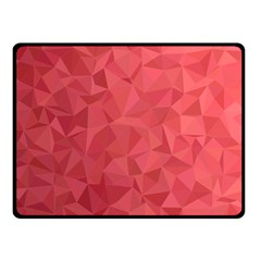 Triangle Background Abstract Double Sided Fleece Blanket (Small)