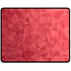 Triangle Background Abstract Double Sided Fleece Blanket (Medium)