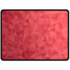 Triangle Background Abstract Double Sided Fleece Blanket (Large)