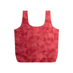Triangle Background Abstract Full Print Recycle Bag (S)