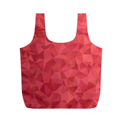 Triangle Background Abstract Full Print Recycle Bag (M)