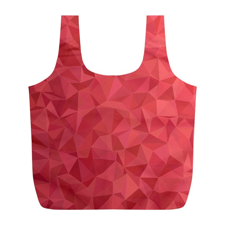Triangle Background Abstract Full Print Recycle Bag (L)