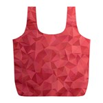 Triangle Background Abstract Full Print Recycle Bag (L) Back