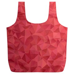 Triangle Background Abstract Full Print Recycle Bag (XL)