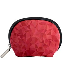 Triangle Background Abstract Accessory Pouch (Small)