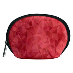Triangle Background Abstract Accessory Pouch (Medium)