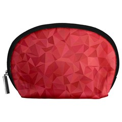 Triangle Background Abstract Accessory Pouch (large)