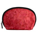 Triangle Background Abstract Accessory Pouch (Large) Front