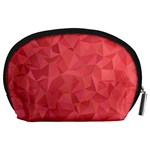 Triangle Background Abstract Accessory Pouch (Large) Back
