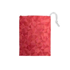 Triangle Background Abstract Drawstring Pouch (small)