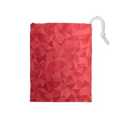 Triangle Background Abstract Drawstring Pouch (Medium)