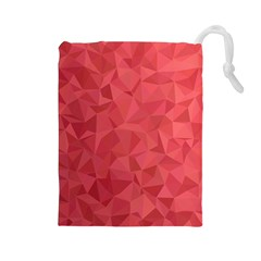 Triangle Background Abstract Drawstring Pouch (Large)