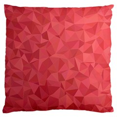 Triangle Background Abstract Large Flano Cushion Case (One Side)