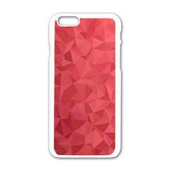 Triangle Background Abstract Apple iPhone 6/6S White Enamel Case