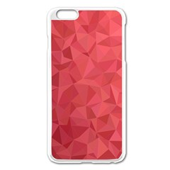 Triangle Background Abstract Apple iPhone 6 Plus/6S Plus Enamel White Case