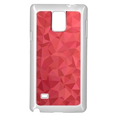 Triangle Background Abstract Samsung Galaxy Note 4 Case (White)