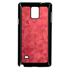 Triangle Background Abstract Samsung Galaxy Note 4 Case (Black)