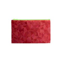 Triangle Background Abstract Cosmetic Bag (XS)