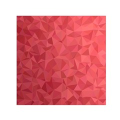 Triangle Background Abstract Small Satin Scarf (Square)