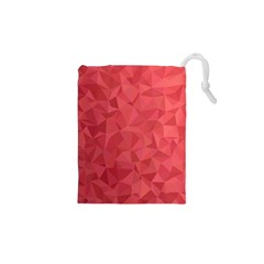 Triangle Background Abstract Drawstring Pouch (XS)