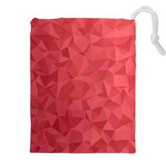 Triangle Background Abstract Drawstring Pouch (XXL)