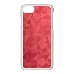 Triangle Background Abstract Apple iPhone 8 Seamless Case (White)