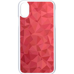 Triangle Background Abstract Apple iPhone X Seamless Case (White)