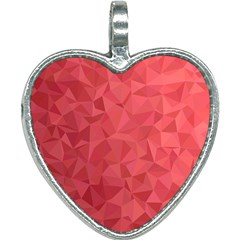 Triangle Background Abstract Heart Necklace