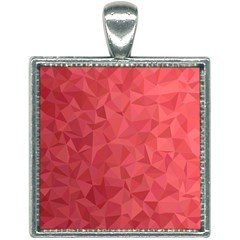 Triangle Background Abstract Square Necklace