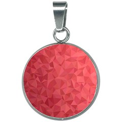 Triangle Background Abstract 20mm Round Necklace