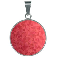 Triangle Background Abstract 25mm Round Necklace