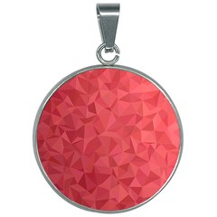 Triangle Background Abstract 30mm Round Necklace
