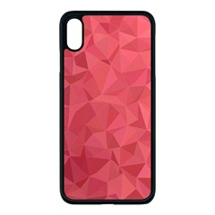 Triangle Background Abstract Apple iPhone XS Max Seamless Case (Black)