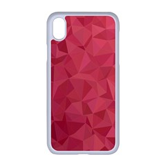 Triangle Background Abstract Apple iPhone XR Seamless Case (White)