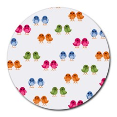 Pattern Birds Cute Round Mousepads by Mariart