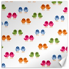 Pattern Birds Cute Canvas 16  X 16