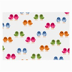Pattern Birds Cute Large Glasses Cloth (2 Side) by Mariart