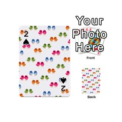 Pattern Birds Cute Playing Cards 54 (mini) by Mariart