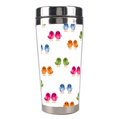 Pattern Birds Cute Stainless Steel Travel Tumblers by Mariart