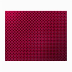 Red Black Pattern Background Small Glasses Cloth (2 Side)