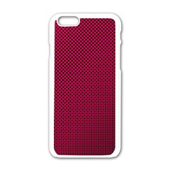 Red Black Pattern Background Apple Iphone 6/6s White Enamel Case