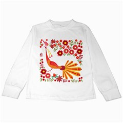 Peacock Pattern Kids Long Sleeve T Shirts